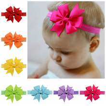 Girls' Hair Accesories Girl's Bow Headband Hot Sale girl solid hair Band Children Headbands Christmas Gifts Free Shipping