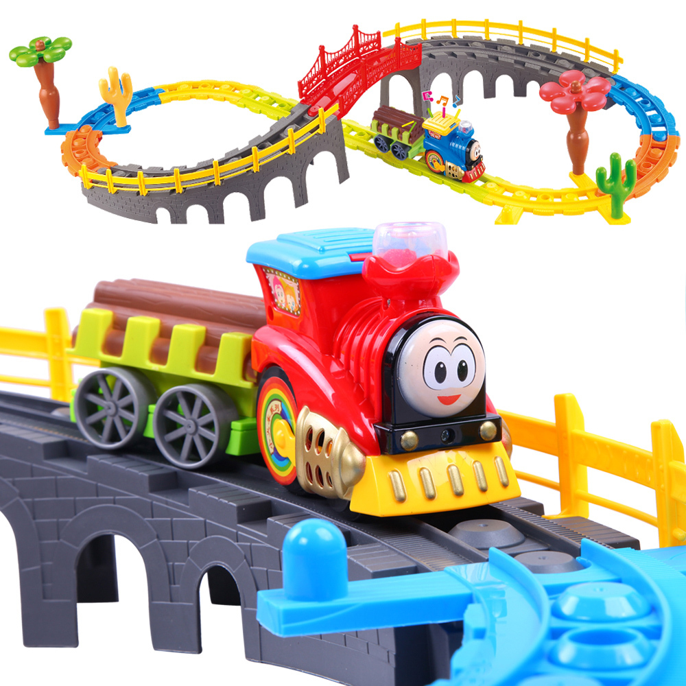 kids toy electric train toy set boy 39 s model toys children 39 s train tracks toy free shipping in rc. Black Bedroom Furniture Sets. Home Design Ideas