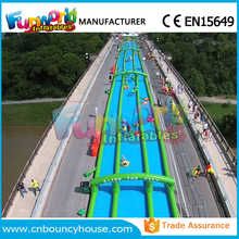 Hot slide city 1000 ft slip n slide inflatable slide the city