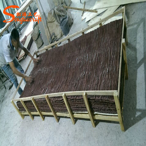 Large number of wholesale imitation tree bark rubber made artificial bark for decoration