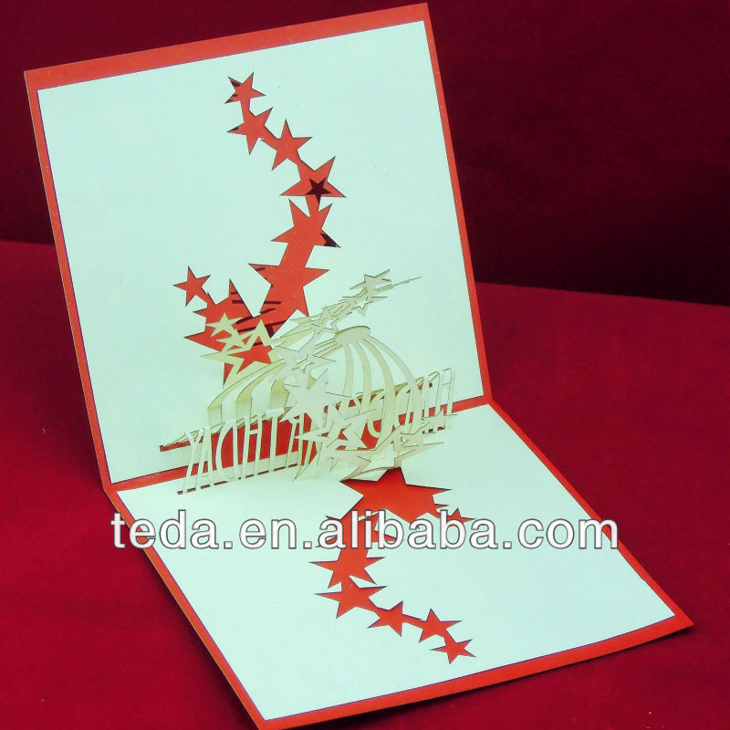 d pop up tarjetas navidad
