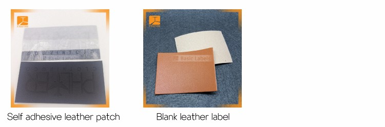 Pu label maker custom embossed jeans leather patch label