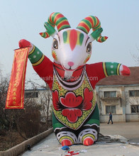Red and green giant inflatable goat/inflatable sheep/20ft W32