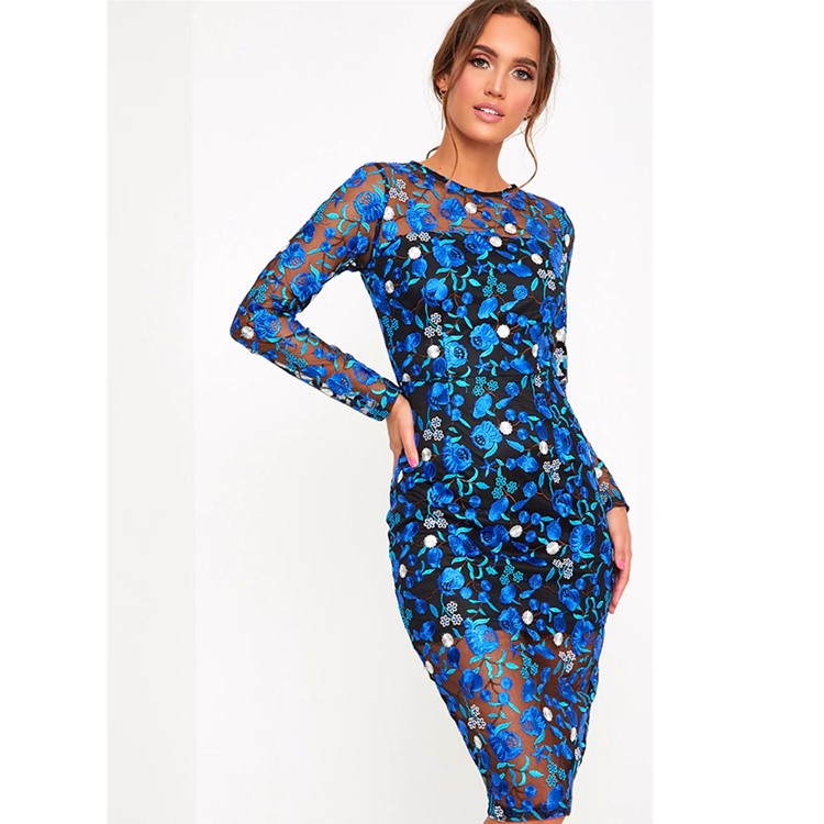 Alibaba.com / Fashion Long Sleeve Celebrity Evening Party Women Dress