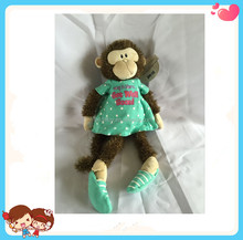 Wholesale High Quality Cute Stuffed Plush Long Legs Monkey Shape Soft Toys