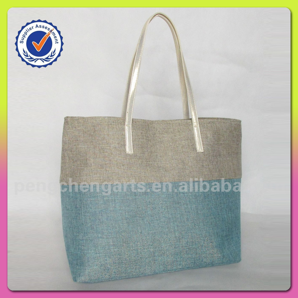 Best selling splicing handbag and women polyester bags manufacturers