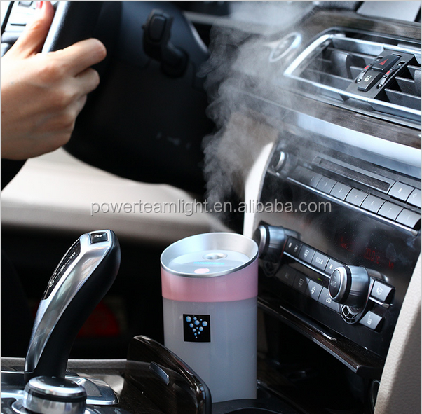 12V Mini Car Steam Humidifier Air Purifier Aroma Aromatherapy Essential Oil Diffuser