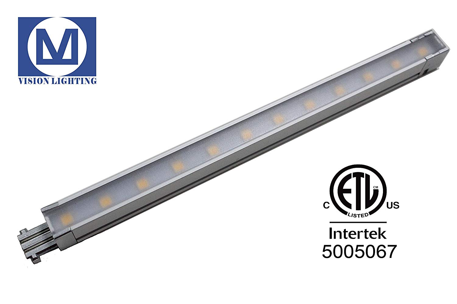 Qin Li Chuang SMD 2835 Spot-free Ultra Slim LED Linear Light with Clear Flat Cover 24V DC LED Hard Strip Non-waterproof IP21 (280MM, 4000K)