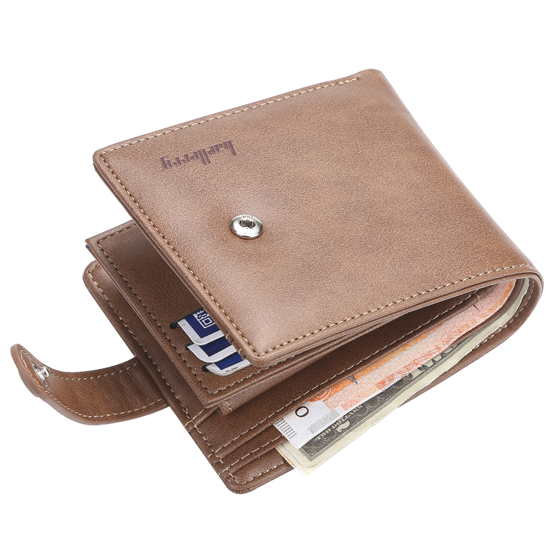 baellerry 2019 newest Vintage deisnger Buckle fine leather short section wallet for <strong>men</strong> with Hasp,male Coin purse,card holder