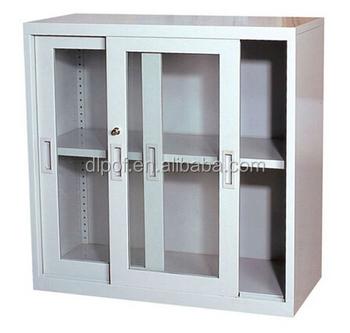 Präferenz Dl- Gc2) Metall Bücherregal Mit Glas Schiebetüren/glasschiebetür ZH08