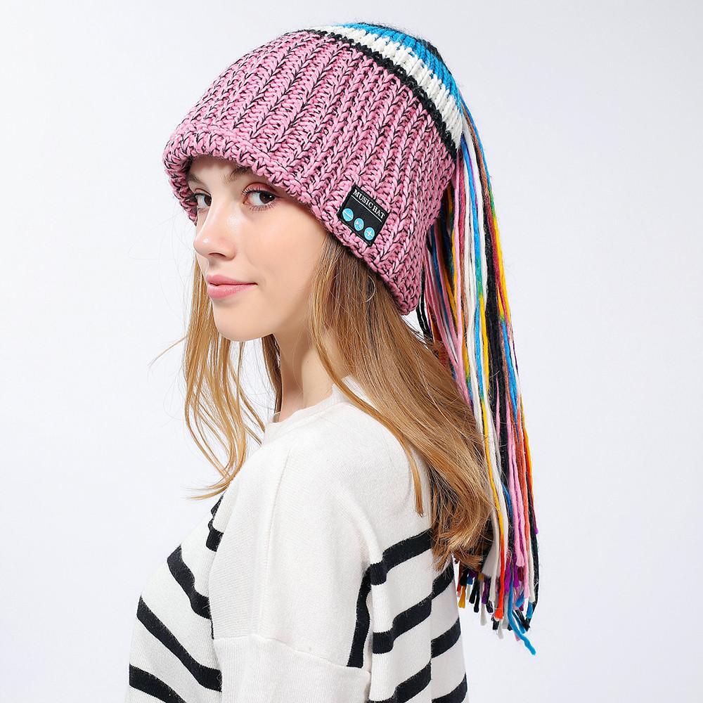 e616b93b578 2018 Fashion Style Winter Women Novelty Hat Wireless Bluetooth 4.2 ...
