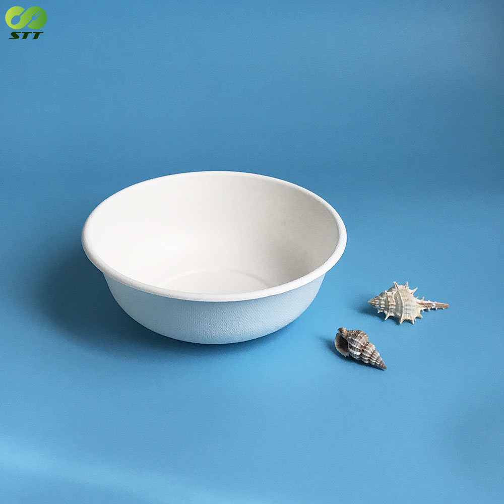 Natural unbreakable sugarcane bagasse pulp bowl for home use