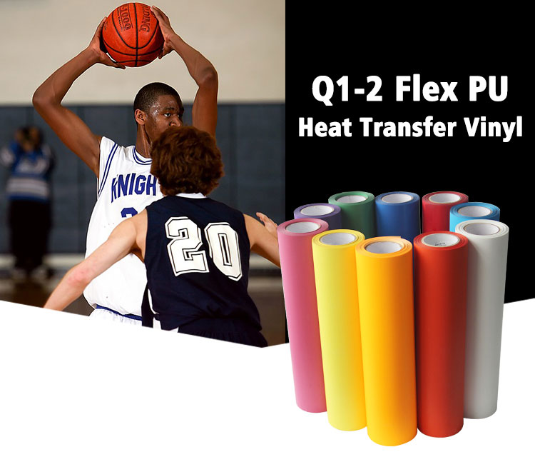 Wholesale korea textil fabric flex htv roll pu heat transfer vinyl for clothing t-shirt