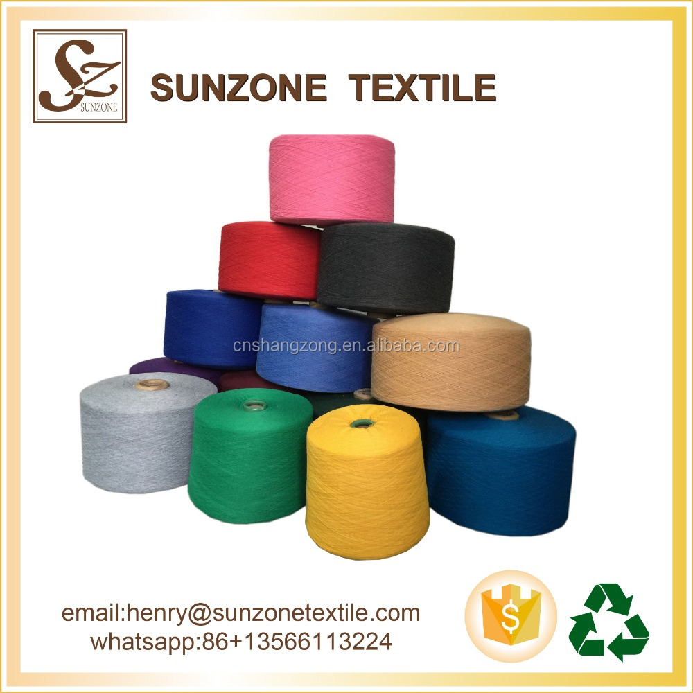 high quality customized color blend recycle regenerated cotton yarn for knitting machine