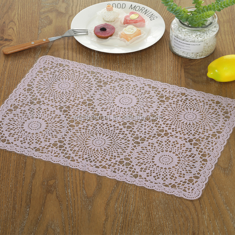 Greaseproof Plastic Party laser-cut Table Mat, back Transparent PVC Placemat