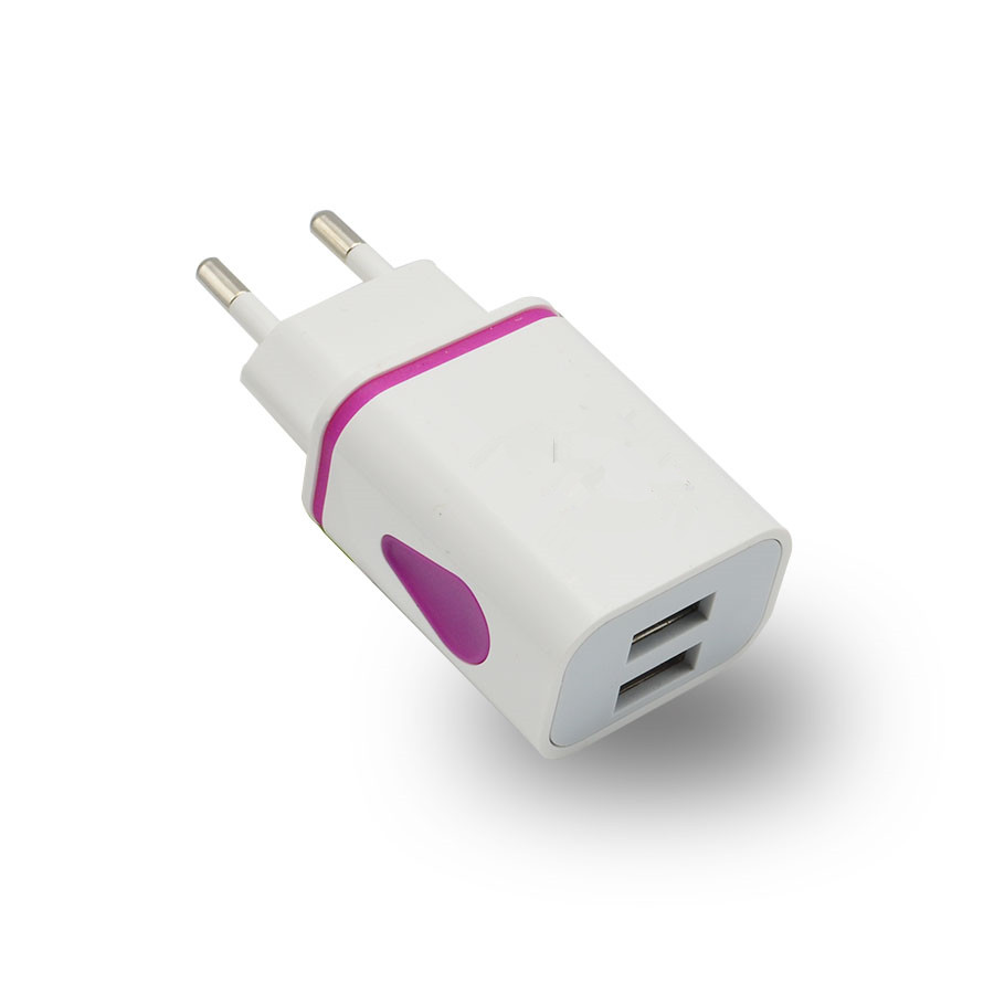 Wholesale Water Drop Dual Port Emergency Chargers Wall Charger With LED