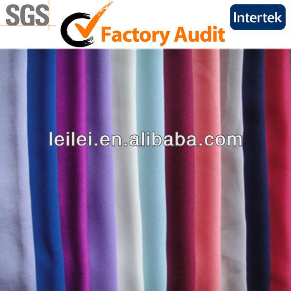 Fashionable Plain Coloured Dyed Polyester Fabric