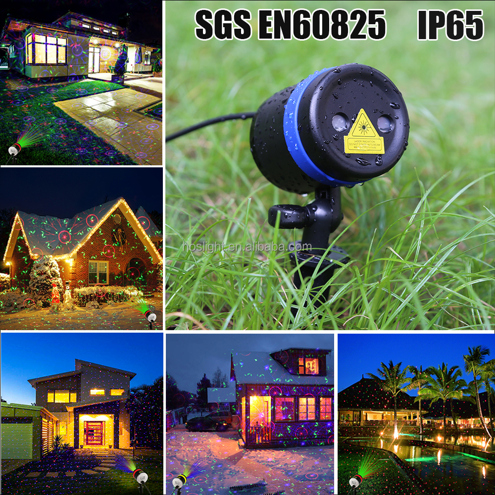 Red Green Laser Light firefly outdoor garden lights for decorative christmas with keyboard
