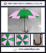 All good selling rain straight pink and green umbrellas