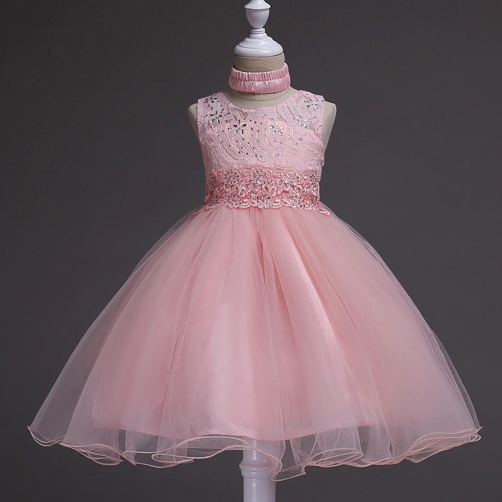 Negro largo princesa niña flor chica último partido diseños-Vestidos ...