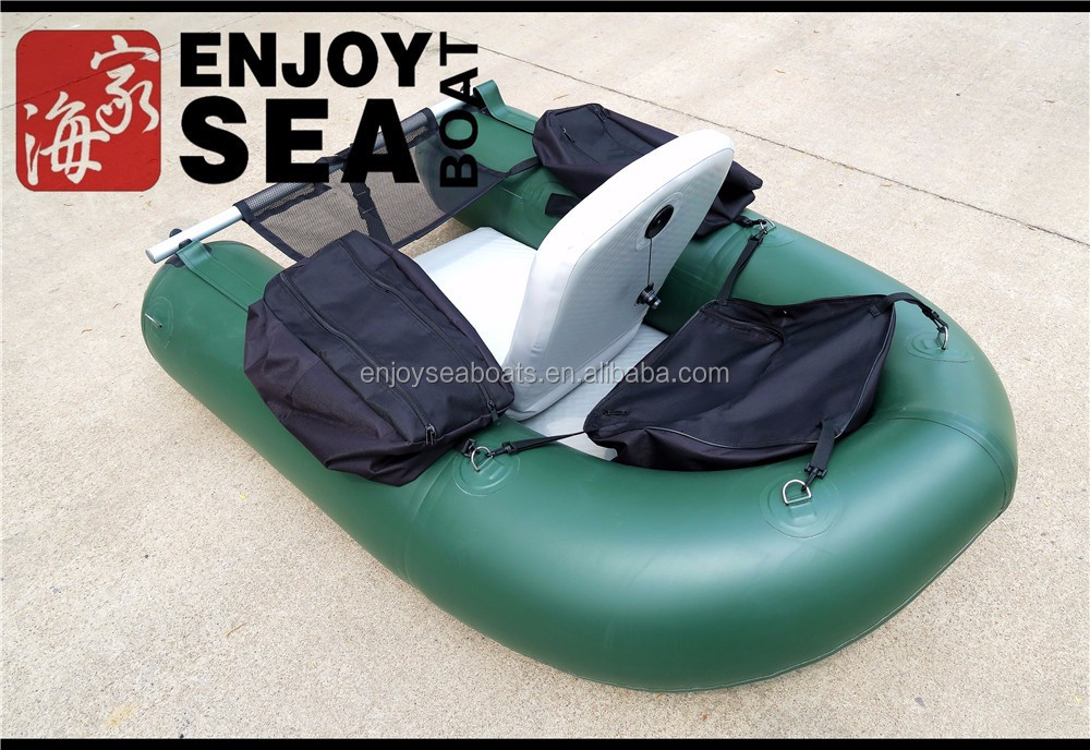 Mini fly fishing boat float tube inflatable pontoon for Inflatable fishing pontoon