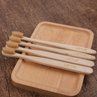 Best selling Oral Hygiene biodegradable Wholesale Adult oem Organic Bamboo Certified 4 pack bamboo toothbrush adult