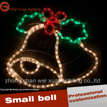 christmas bell lighting 2d 3d motif led bell waterproof decoration light sculpture
