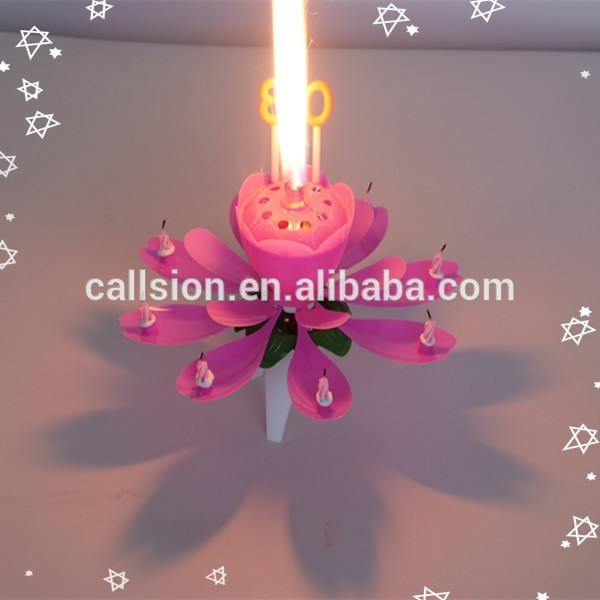 Produced in china happy fireworks decorations personalized Birthday candles for children