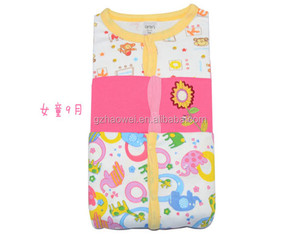 hot sale Spring & Autumn 100% cotton baby girl's romper, sleepsuit and playsuit