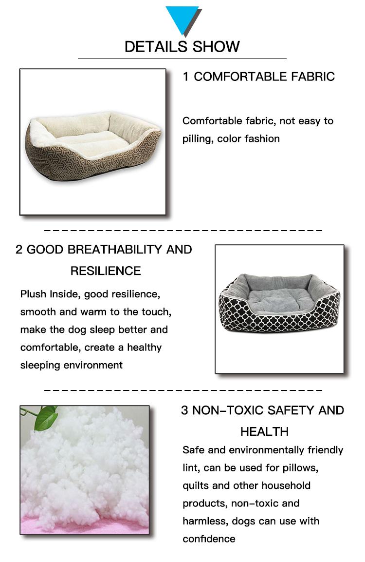 2019 Nieuwe ontwerp warmer hond bed luxe, zachte pluche hond bedden wasbaar luxe, unieke geluk hond bedden