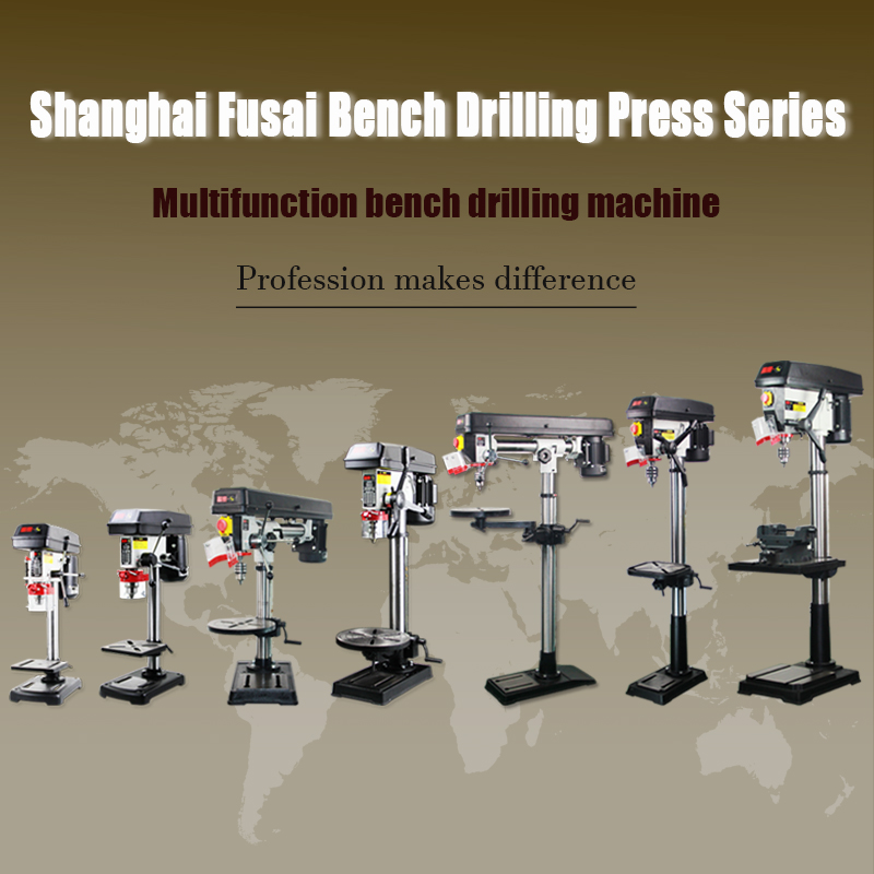 Fusai FS-Q5132 1500 w zware verticale bankje boor druk boren machine