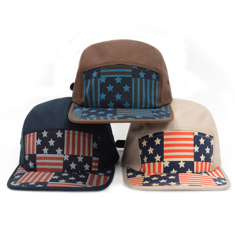 15745ca67ee Get Quotations · Snapback Hats 2015 Star Stripes Hiphop 5 Panel Cap Cotton  Sports Gorras Adjustable Strapback Baseball Caps