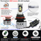Newest 6000 lumens 9007 HB5 CREES led headlight with XHP50 chips 36W bulb base adjustable