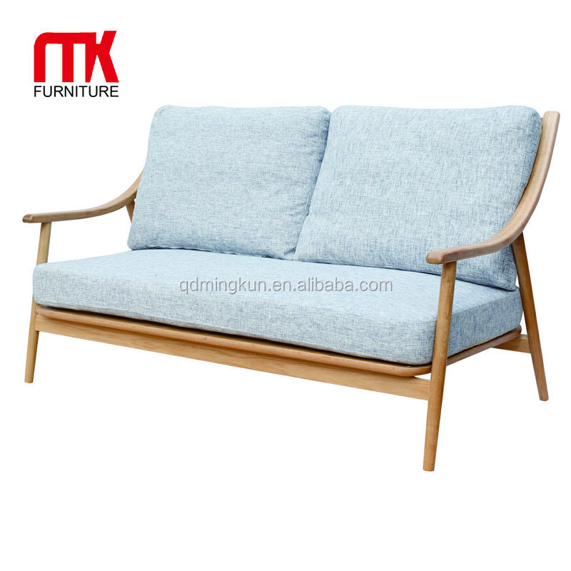 Hot Selling Modern Wooden Double Seater Sofa For Living Room Office  Furniture - Buy Double Sided Sofa,Oak Wood Double Sofa,Luxury Furniture  Wood Sofa ...