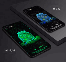 2018 핫 잘 팔리는 3D 양각 luminous 셀 phone case 와 glow in the dark mobile phone case 대 한 iPhone X 대 한 iPhone 6 7 8