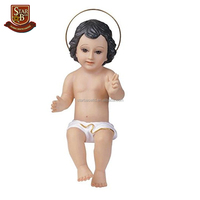 Baby Jesus with glass eyes holy religious decoration nativity resin baby jesus figurine