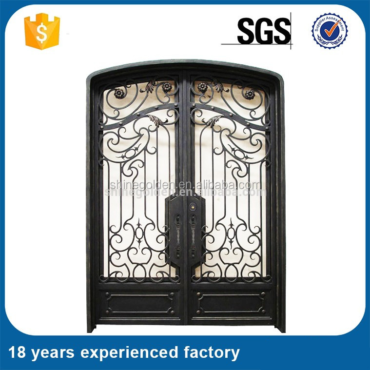 High Quality Iron Door Designs Forged Wrought Iron Door - Buy Iron ...