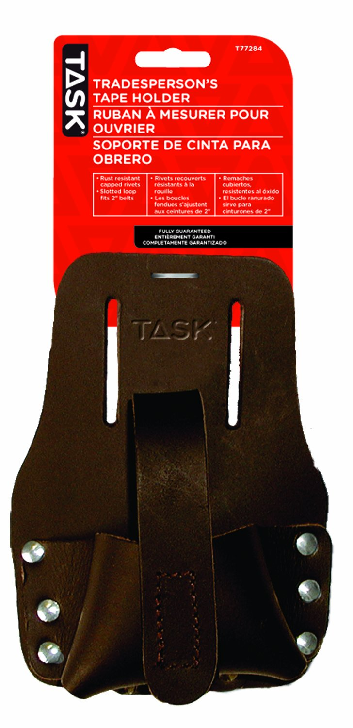 Task Tools T77284 Tradesperson's Leather Tape Measure Holder