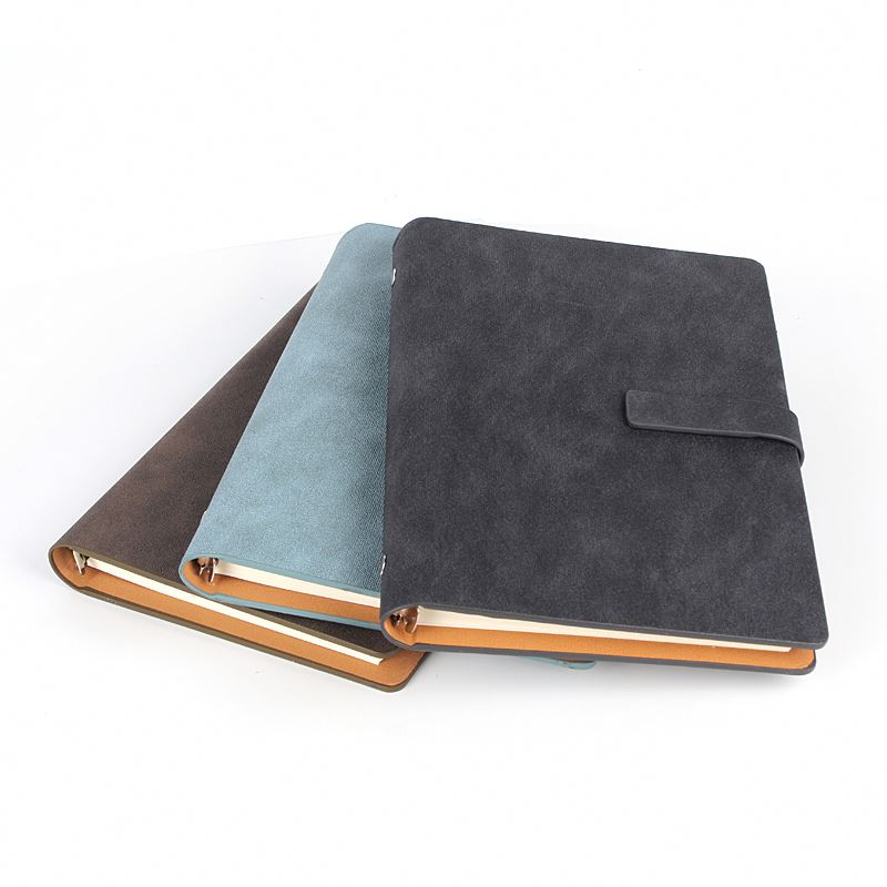 Industry leader attractive price frosted leather covered notebook simple design