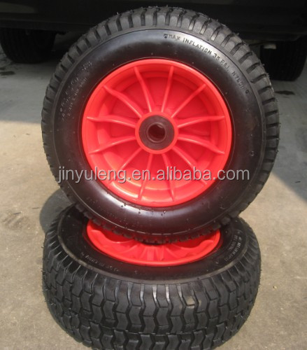 16inch 6.50-8 Large diameter lawn garden cart wheel lawn mower wheel pneumatic rubber wheel