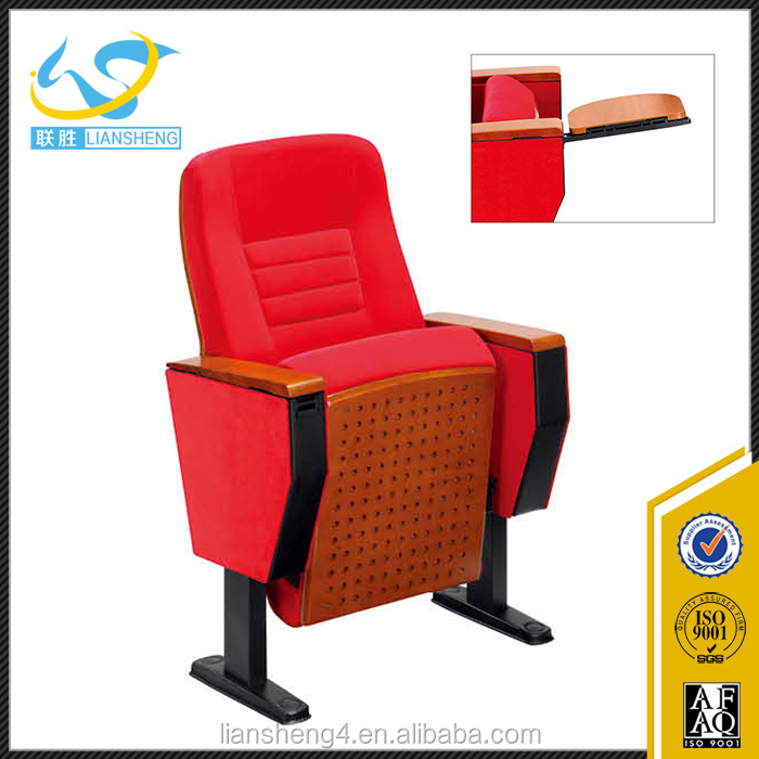 Red Color Comfortable Auditorium Embly Hall Chair Cushion Reading