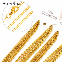 Cable Necklace Stainless Steel Chain Toggle Link Clasp Gold Colored Silver Gift Promotion Wholesale Artificial jewelry