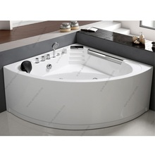 Corner Air Bubble Available Bathtub with Seat with Mat Pillow