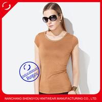 custom 100 rayon blank t shirt women wholesale