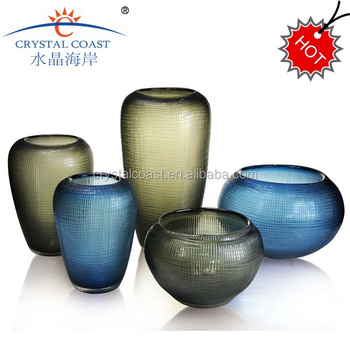 Elegand Round Glass Showpiececut Glass Vases Wholesale Living Room