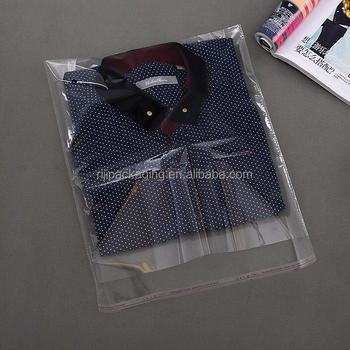 Transpa Opp Resealable Plastic Bags For Clothing