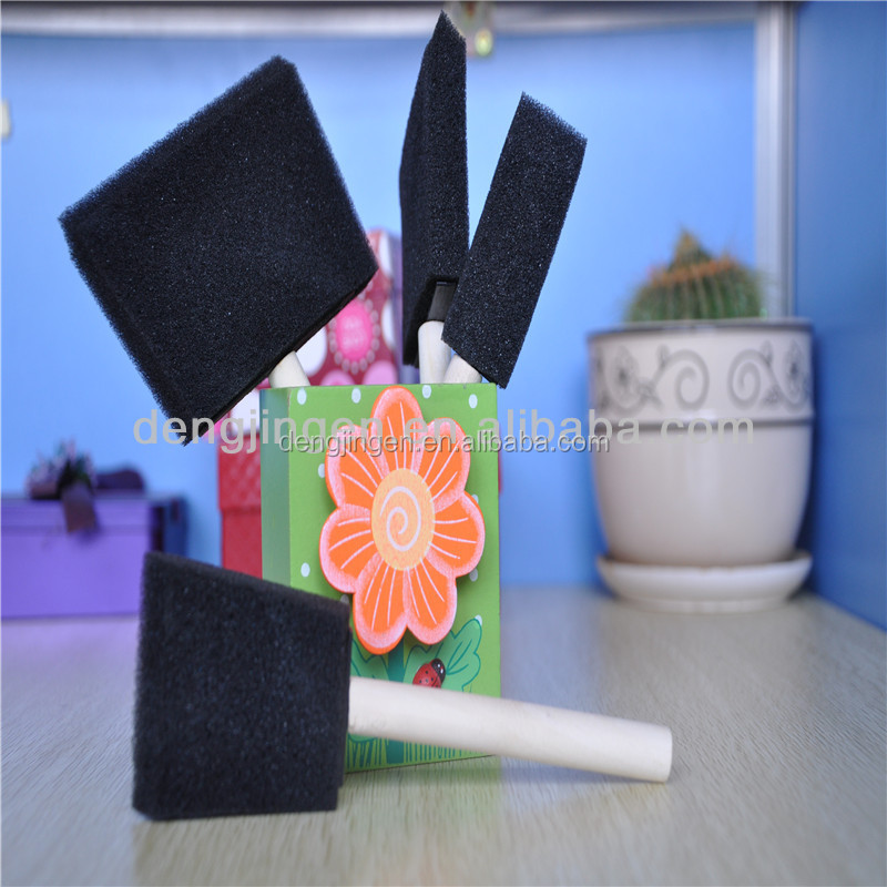 2015 Newwooden handle cleaning foam brush wood dust brush