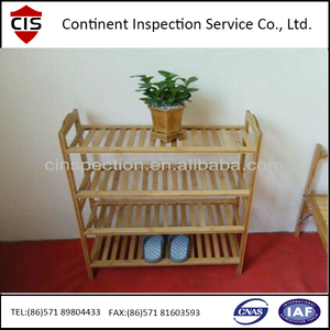 Furniture Bamboo shoe rack Quality Inspection and Preshipment 100% inspection service