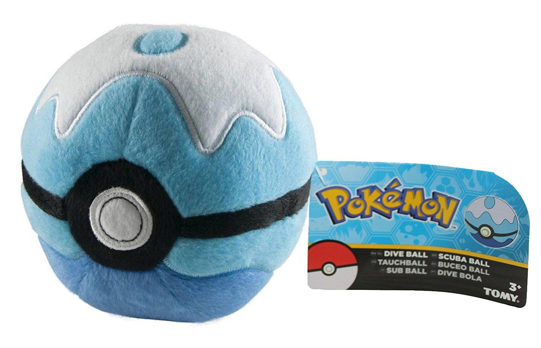"Pokemon Dive Ball Plush 5"" with Random 7cm Pokeball with Mini Figure Inside"