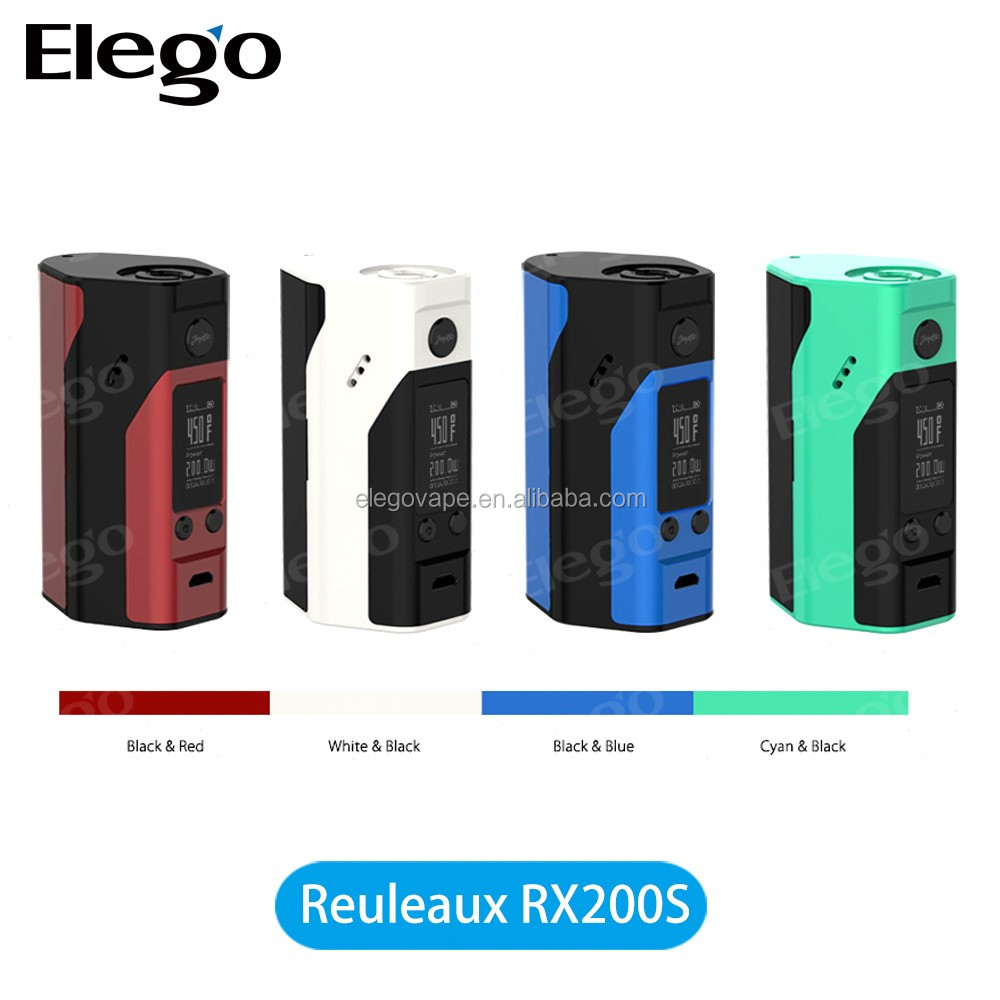 Original Wismec Reuleaux RX200S Box Mod 200W Large Display Vaporizer Mod Upgraded Houses 3X18650 Battery 510 Thread